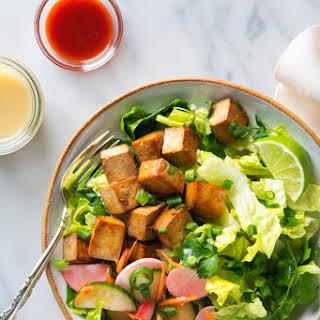 Tofu Banh Mi Salad with Quick Pickles.