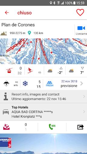 iSKI Italia - Ski, snow, resort info, GPS tracker screenshots 2