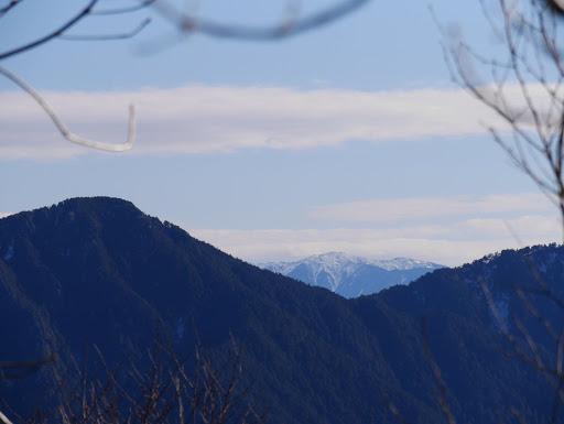 奥に中央アルプス(越百山)