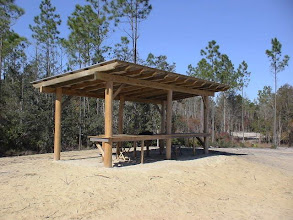 Photo: Shooting range covered benches