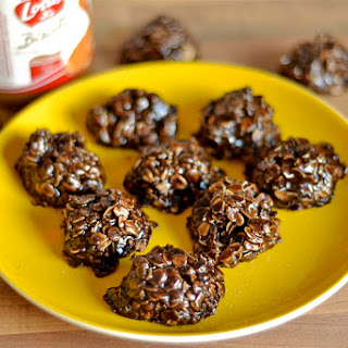 No-Bake Dark Chocolate and Cookie Butter Cookies.