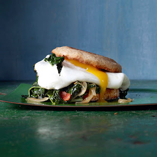 Bacon-and-Egg Sandwiches with Greens