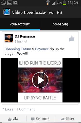 無料社交Appの無料のFacebookのビデオをダウンロード|記事Game