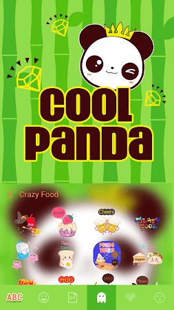 Cool Panda Kika Keyboard Theme 4.0 screenshot 1058772