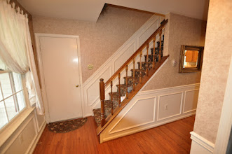 Photo: (Before) Tarleki's Foyer Banister Collegeville, PA