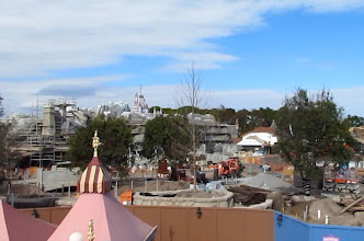 Photo: Here you can begin to see some of the detailed placemaking going on around the Fantasyland Expansion. Alas, this view is now gone since Dumbo is closed for its move to Storybook Circus.