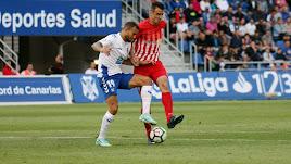 Caballero en el Tenerife-Almería de la 2017-2018.