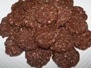 Mocha Cappuccino Hazelnut No Bake Cookies-Annette