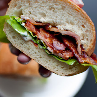 BLT with a Garlic and Sun-dried Tomato Mayo