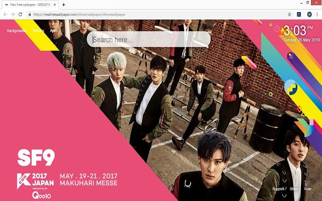 SF9 HD Wallpapers K-Pop Music New Tab Theme