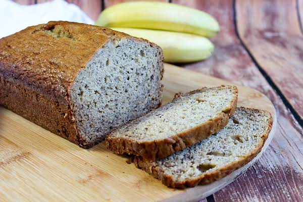 Gram's Best Banana Bread Cut Into Slices.