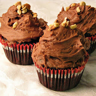 Chocolate Hazelnut Cupcakes with Nutella Frosting.