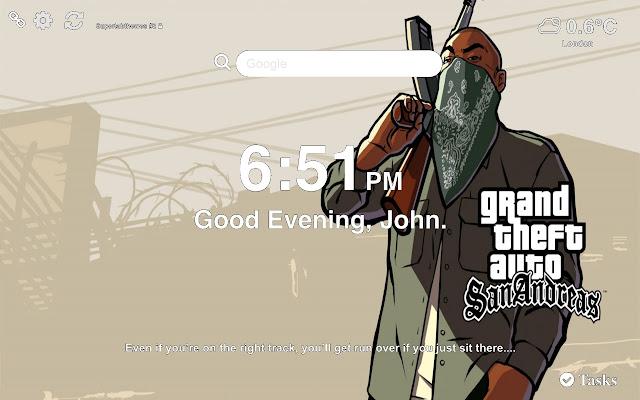 GTA San Andreas Wallpapers HD New Tab