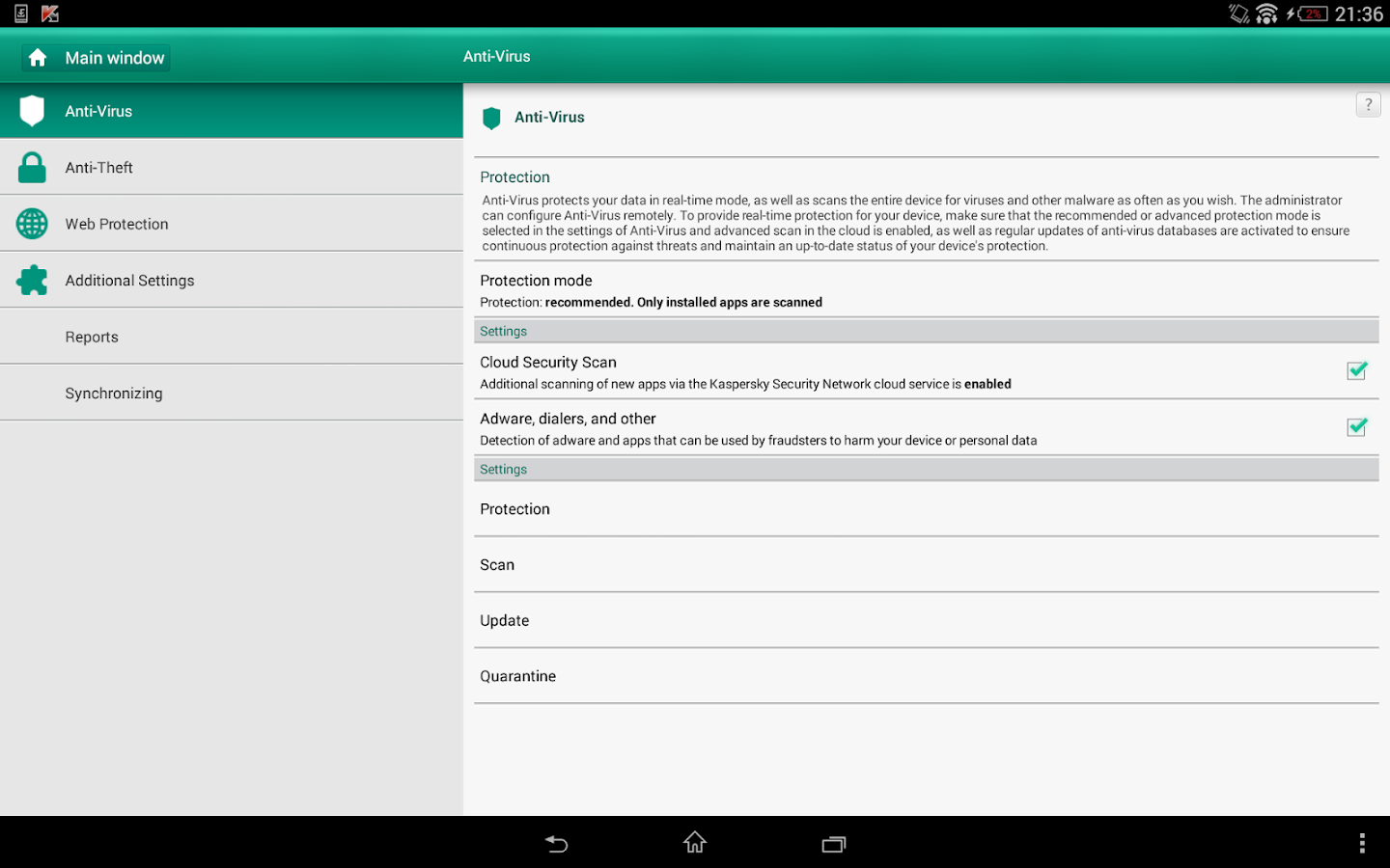 Kaspersky Endpoint Security – Screenshot