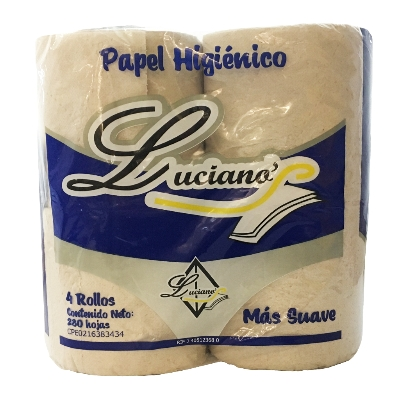 papel higienico lucianos 4 rollos 280 hojas