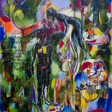 Photo: Charcoal Poems, 2015, © Brenda Clews, 5' x 5', charcoal and oil on canvas