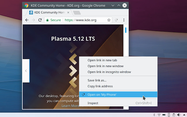 Plasma Integration - Chrome Web Store
