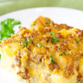 Overnight Sausage and Egg Breakfast Casserole Recipe