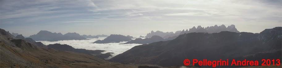 Photo: Panorama 5 Pelmo, Civetta, Pale di San Martino dal Passo Le Selle