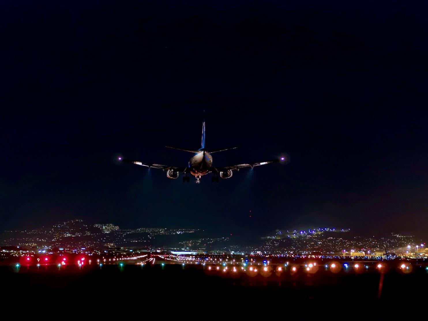Evening Landing at Osaka (Itami) International Airport