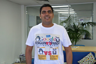 Photo: Piyush claims king of geek shirts this week by immortalising our Penguin Vs Panda infographic! Check out the inspiration here: http://www.reloadmedia.com.au/searchstrategy/google/whats-the-difference-between-google-penguin-and-google-panda/