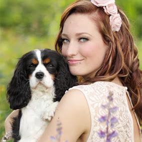 Rosaline by Azzeria Photography - People Portraits of Women ( beautiful, beauty, make-up, cute, portrait, photography, eyes, azzeria, cuteness, nature, female, woman, curls, adorable, arms, dof, dog, fotograaf, flowers, hair, light, assen )
