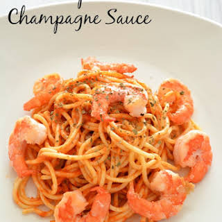 Shrimp with Champagne Sauce {Friday Food Find}.