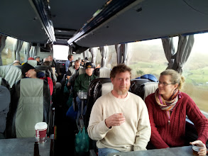 Photo: Our tour bus zips through Yorkshire on the way south to Sheffield.