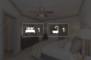 Go to One Bed, One Bath Renovated Floorplan page.