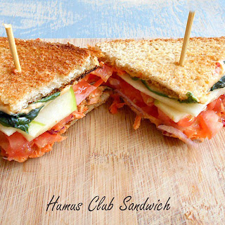 Hummus Club Sandwich