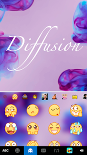 Diffusion Purple Keyboard Theme - náhled