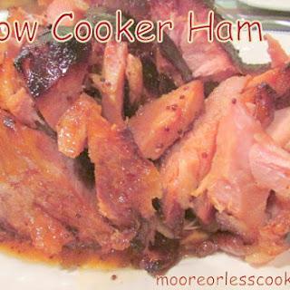 SLOW COOKER HAM.