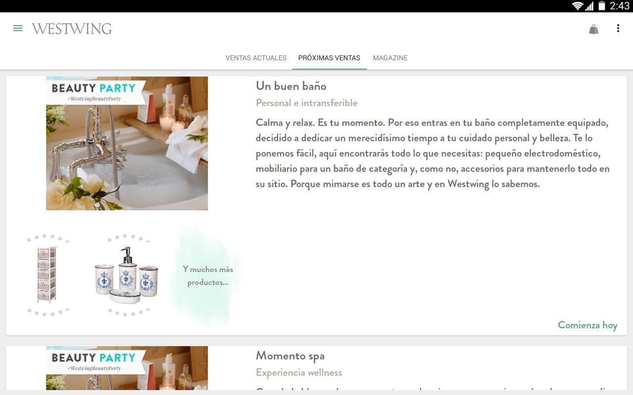 westwing una casa con estilo aplicaciones de android en google play. Black Bedroom Furniture Sets. Home Design Ideas