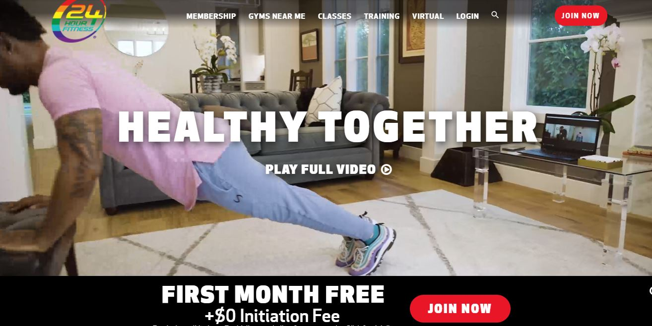 24 Hour Fitness website.