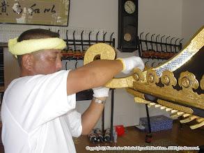 Photo: 【平成16年(2004) 宵々宮】 蕨手を取り付ける。