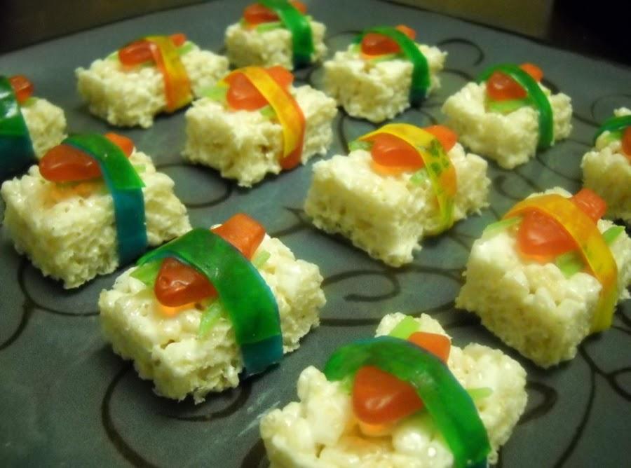 Swedish fish candy sushi recipe just a pinch recipes for Are swedish fish vegan