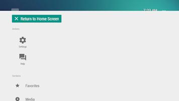 Screenshot of TVLauncher