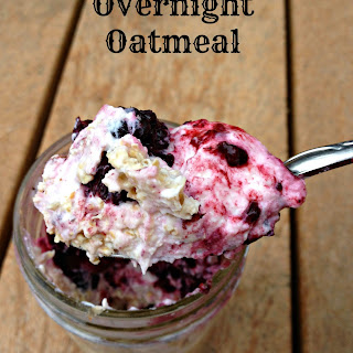 Berry No Cook Overnight Oatmeal.