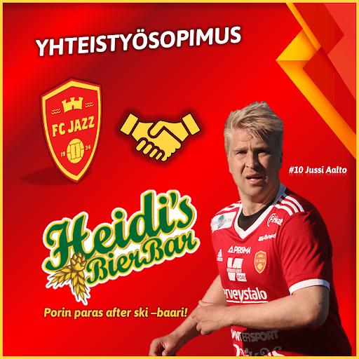 Jussi Aalto taituroi ensi kaudella Heidi´s Bier Barin kummipelaajana.