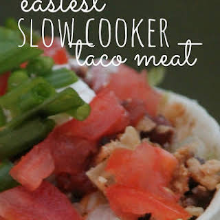 How To Cook Taco Meat In The Slow Cooker {Perfect For Homemade Taco Bar Night}.