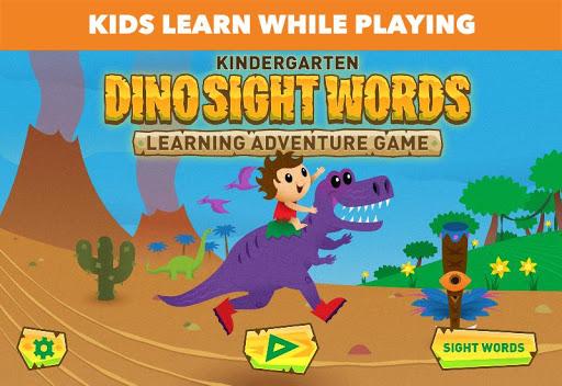 Dino Sight Words: Kindergarten