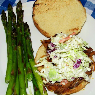 Crockpot Pulled Pork Sandwiches & Coleslaw.
