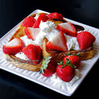 French Toast with Whipped Lemon Ricotta and Strawberries