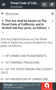 California Penal Code - náhled