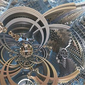 Amuzement Ride by Ricky Jarnagin - Illustration Abstract & Patterns ( abstract, ricky jarnagin, mandelbulb, dsynegrafix, 3d art, fractal )