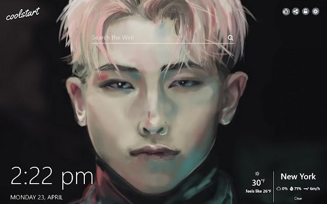 RM BTS HD Wallpapers K-pop Music Theme