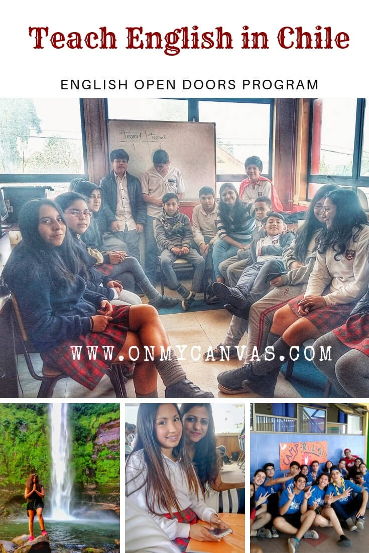 multiple photos of priyanka gupta on her teach english in chile with english open doors program experience used as a pinterest image