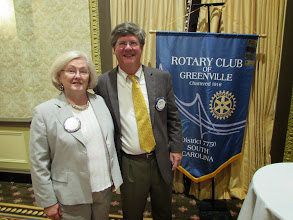 Photo: Past President Judith Prince and President Russell Stall