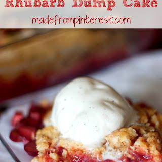 Rhubarb Dump Cake.