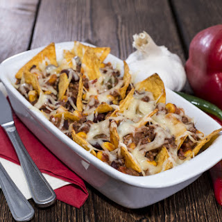 Healthy Mexican Nachos With Sweet Potato Chips